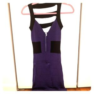 Body-Con Mini Dress with Ladder Back Detail